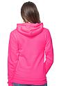 Unisex Fashion Fleece Neon Pullover Hoodie NEON PINK Side2