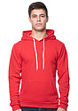Unisex Fashion Fleece Pullover Hoodie RED Front