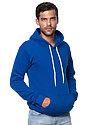 Unisex Fashion Fleece Pullover Hoodie ROYAL Side