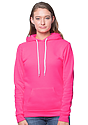 Unisex Fashion Fleece Neon Pullover Hoodie  Front2