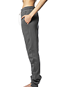 Unisex Fashion Fleece Jogger Sweatpant ASPHALT Back