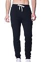 Unisex Fashion Fleece Jogger Sweatpant BLACK Front