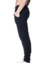 Unisex Fashion Fleece Jogger Sweatpant BLACK Back