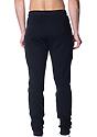 Unisex Fashion Fleece Jogger Sweatpant BLACK Back2
