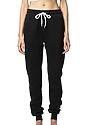 Unisex Fashion Fleece Jogger Sweatpant BLACK LaydownFront