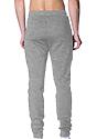 Unisex Fashion Fleece Jogger Sweatpant HEATHER GREY Back2