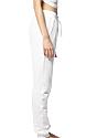 Unisex Fashion Fleece Jogger Sweatpant WHITE Back