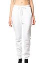Unisex Fashion Fleece Jogger Sweatpant WHITE Front