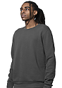 Unisex Fashion Fleece Crew Sweatshirt ASPHALT 3