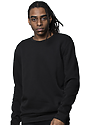 Unisex Fashion Fleece Crew Sweatshirt BLACK 2