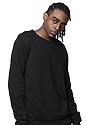 Unisex Fashion Fleece Crew Sweatshirt BLACK 3