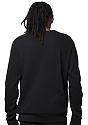 Unisex Fashion Fleece Crew Sweatshirt BLACK 4
