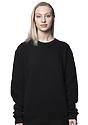 Unisex Fashion Fleece Crew Sweatshirt BLACK 5