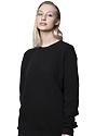 Unisex Fashion Fleece Crew Sweatshirt BLACK 6