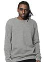 Unisex Fashion Fleece Crew Sweatshirt HEATHER GREY 2