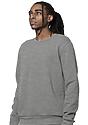 Unisex Fashion Fleece Crew Sweatshirt HEATHER GREY 3