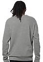 Unisex Fashion Fleece Crew Sweatshirt HEATHER GREY 4