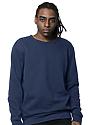 Unisex Fashion Fleece Crew Sweatshirt NAVY 2