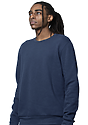 Unisex Fashion Fleece Crew Sweatshirt NAVY 3