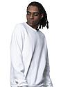 Unisex Fashion Fleece Crew Sweatshirt WHITE 2