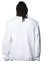 Unisex Fashion Fleece Crew Sweatshirt WHITE 4