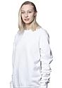 Unisex Fashion Fleece Crew Sweatshirt WHITE 6