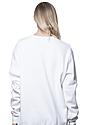 Unisex Fashion Fleece Crew Sweatshirt WHITE 7