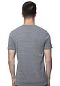 Unisex eco Triblend Short Sleeve Tee ECO TRI GREY Back