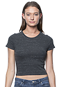 Women's eco Triblend Crop Tee ECO TRI CHARCOAL Front