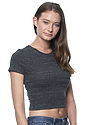 Women's eco Triblend Crop Tee ECO TRI CHARCOAL Side