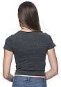 Women's eco Triblend Crop Tee ECO TRI CHARCOAL Back
