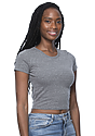 Women's eco Triblend Crop Tee ECO TRI GREY Front