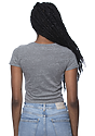 Women's eco Triblend Crop Tee ECO TRI GREY Back