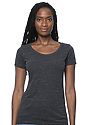 Women's eco Triblend Scoop Neck ECO TRI CHARCOAL Front