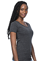 Women's eco Triblend Scoop Neck ECO TRI CHARCOAL Side