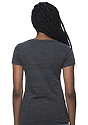 Women's eco Triblend Scoop Neck ECO TRI CHARCOAL Back