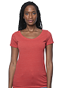 Women's eco Triblend Scoop Neck ECO TRI TRUE RED Front
