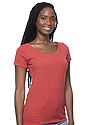 Women's eco Triblend Scoop Neck ECO TRI TRUE RED Side