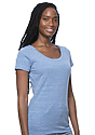 Women's eco Triblend Scoop Neck ECO TRI ROYAL Side