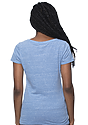 Women's eco Triblend Scoop Neck ECO TRI ROYAL Back