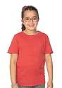 Youth eco Triblend Short Sleeve Tee ECO TRI TRUE RED Front