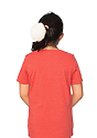 Youth eco Triblend Short Sleeve Tee ECO TRI TRUE RED Back