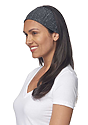 eco Triblend Jersey Multipurpose Face Mask/Headband ECO TRI CHARCOAL Front2
