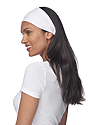 eco Triblend Jersey Multipurpose Face Mask/Headband ECO TRI WHITE Front2