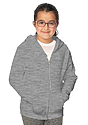 Youth Fashion Fleece Zip Hoodie HEATHER GREY Front