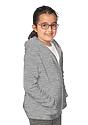 Youth Fashion Fleece Zip Hoodie HEATHER GREY Side