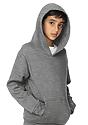 Youth Fashion Fleece Pullover Hoodie HEATHER GREY Side