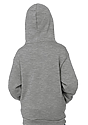 Youth Fashion Fleece Pullover Hoodie HEATHER GREY Back