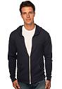 Unisex eco Triblend Jersey Full Zip Hoodie ECO TRI BLACK Front