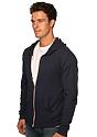 Unisex eco Triblend Jersey Full Zip Hoodie ECO TRI BLACK Side